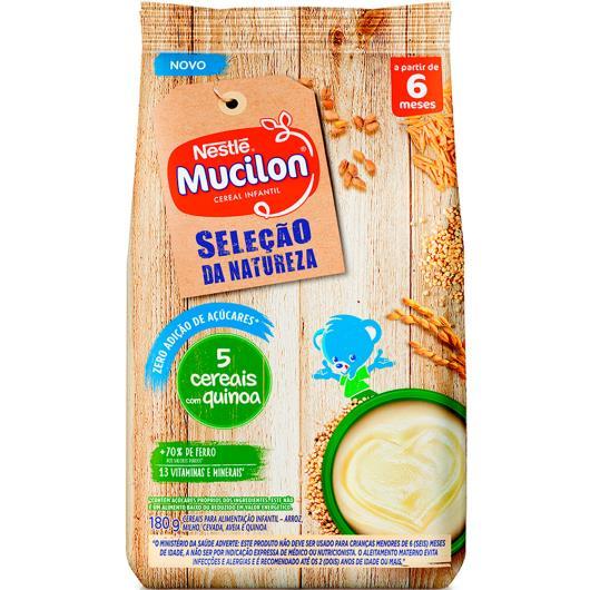 Mucilon zero açúcar 5 cereais e quinoa 180g - Imagem em destaque