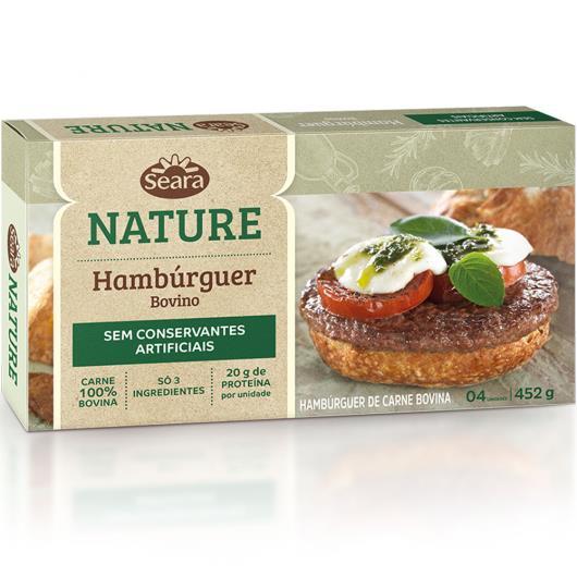 Hambúrguer bovino Nature Seara 452g - Imagem em destaque