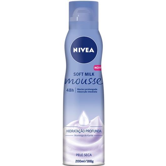 Espuma hidratante mousse soft milk Nivea 200ml - Imagem em destaque