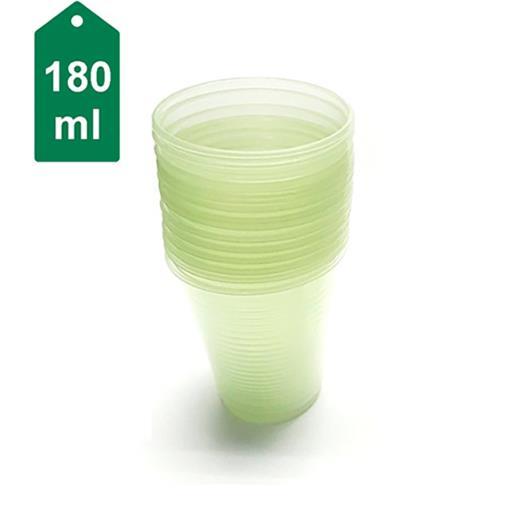 Copo plástico verde Ecocoppo 180ml - 100 unidades - Imagem em destaque