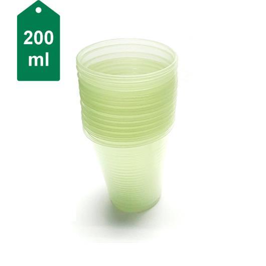 Copo plástico verde Ecocoppo 200ml - 100 unidades - Imagem em destaque