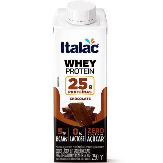 Bebida Láctea whey protein chocolate Italac 250ml - Imagem em destaque