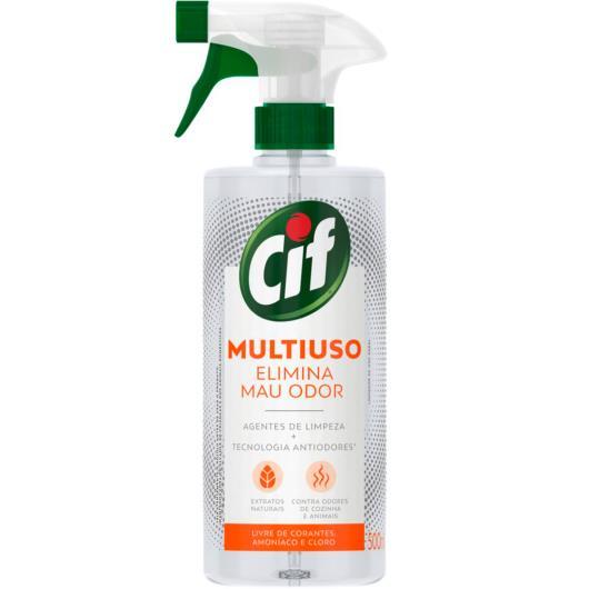 Limpador Multiuso Elimina Mau Odor sem Cloro Cif Frasco 500ml Borrifador - Imagem em destaque