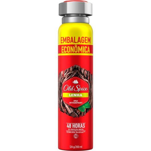 Desodorante lenha embalagem econômica Old Spice aerossol 124g - Imagem em destaque