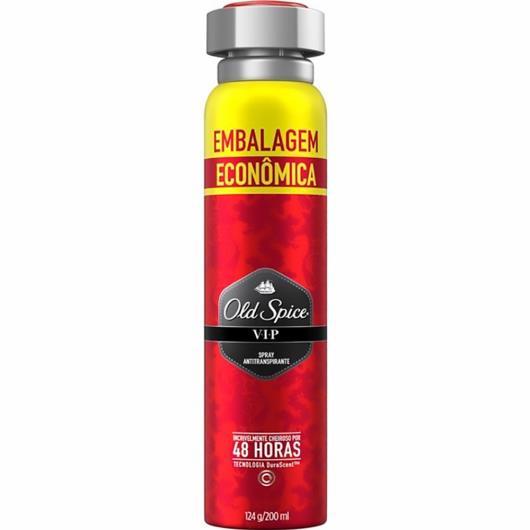 Desodorante vip embalagem econômica Old Spice aerossol 124g - Imagem em destaque