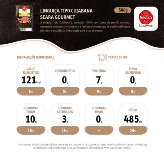 Linguiça tipo cuiabana Gourmet Seara 500g - Imagem em destaque