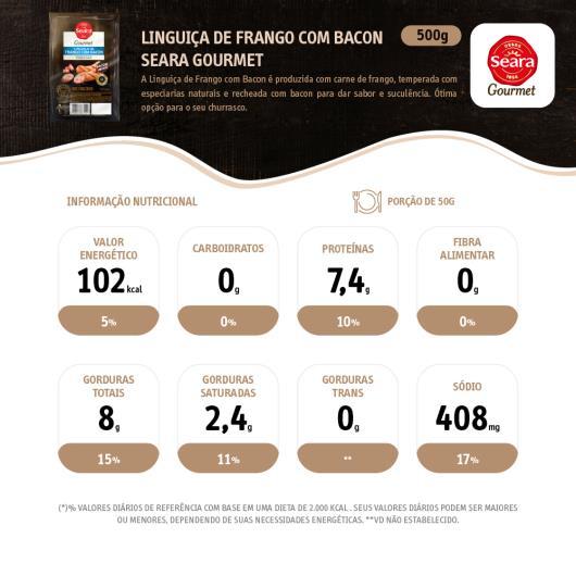 Linguiça frango com bacon Gourmet Seara 500g - Imagem em destaque