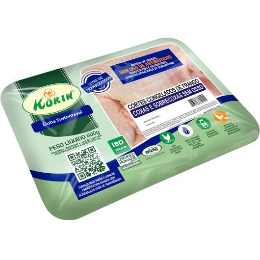 Coxa e Sobrecoxa de Frango congelado Korin 600g - Imagem em destaque