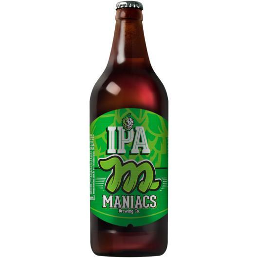 Cerveja clara ipa Maniacs Garrafa 600ml - Imagem em destaque