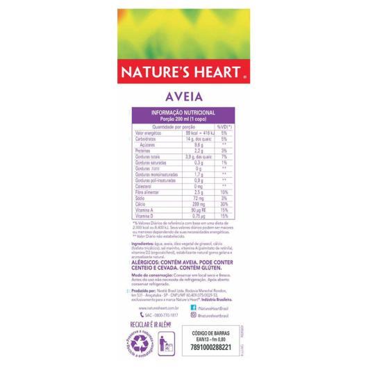 Alimento vegetal aveia Natures Heart 1L - Imagem em destaque