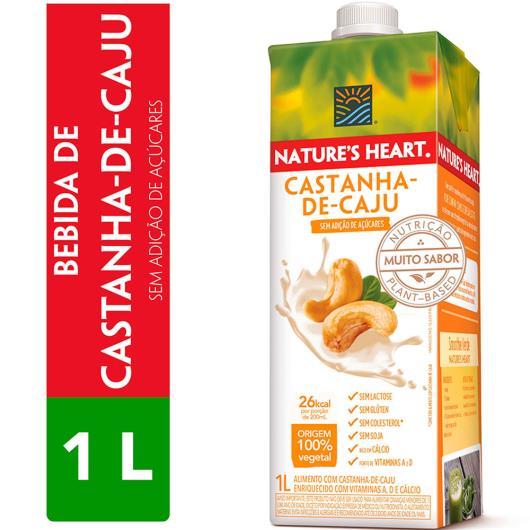 Alimento vegano castanha de caju Natures Heart 1L - Imagem em destaque