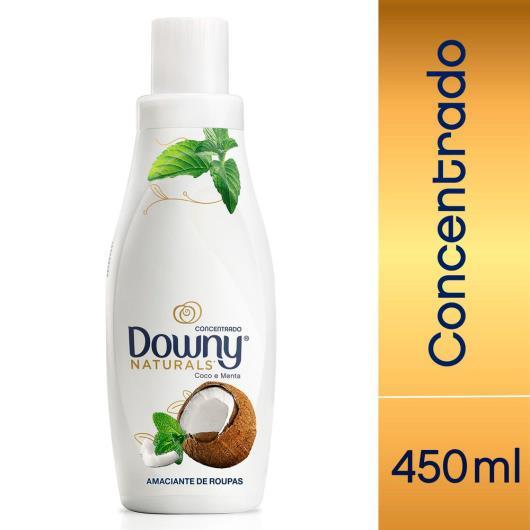 Amaciante concentrado coco e menta Naturals Downy 500ml - Imagem em destaque
