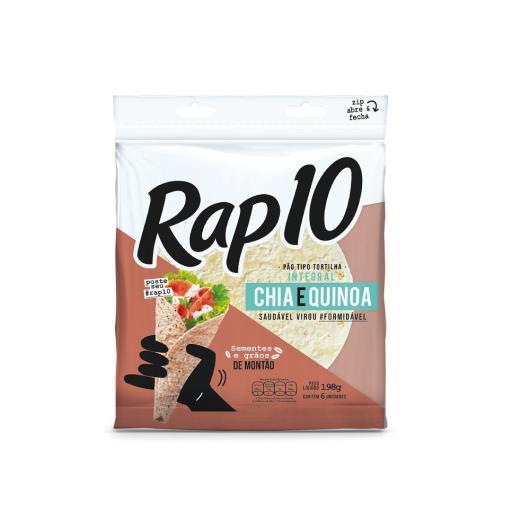 Pão Integral Tipo Tortilha Quinoa e chia Rap 10 198g - Imagem em destaque