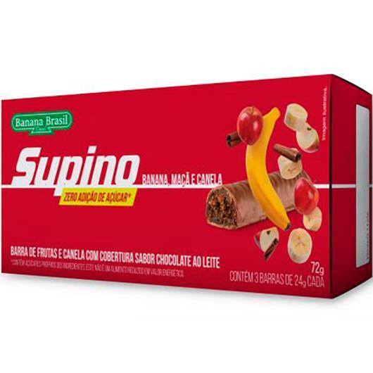 Barra de Frutas zero açúcares banana, maçã e canela Supino 72g - Imagem em destaque