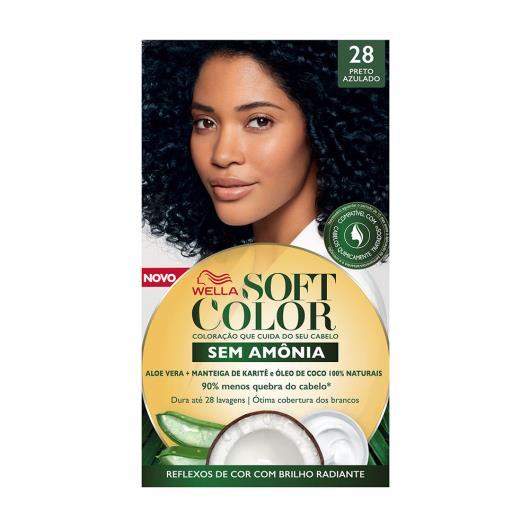 Tinta de Cabelo Soft Color Preto Azulado 28 - Imagem em destaque