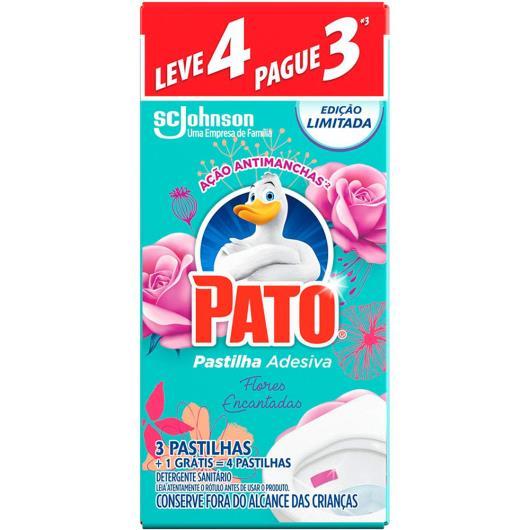 Pastilha adesiva sanitária flores encantadas Pato leve 4 pague 3 - Imagem em destaque