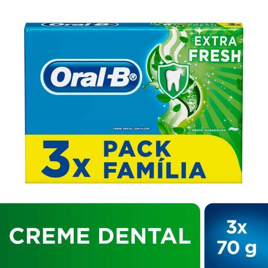 3 Creme Dental Oral-B Escudo Extra Fresh 70g - Imagem em destaque