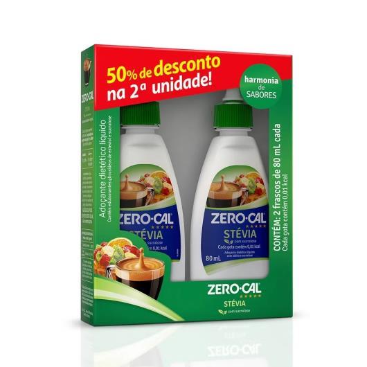 2 Adoçantes líquido 50% de desconto na segunda unidade stevia Zero Cal 160ml - Imagem em destaque
