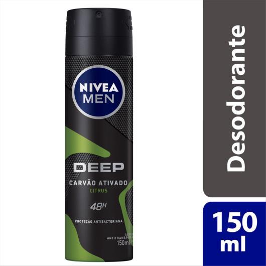 Desodorante aerosol men citrus Deep Nivea 150ml - Imagem em destaque