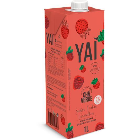 Chá verde frutas vermelhas Yaí tetrapack 1 litro - Imagem em destaque