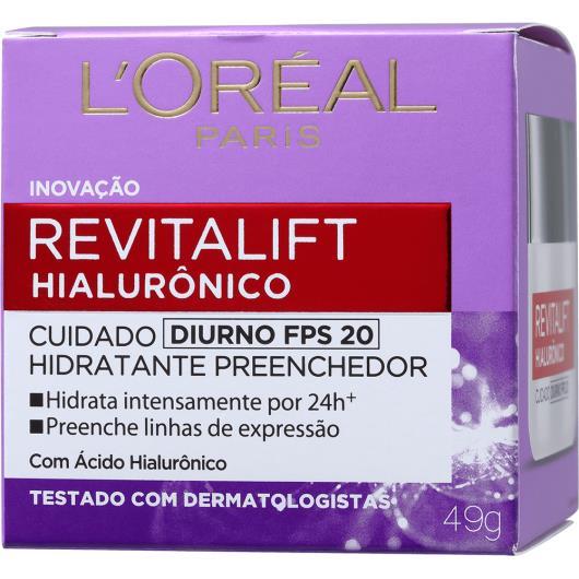 Creme facial L'oreal Revitalift ácido hialurônico diurno 49g - Imagem em destaque