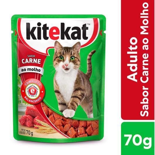 Alimento KiteKat adulto gato carne ao molho 70g - Imagem em destaque