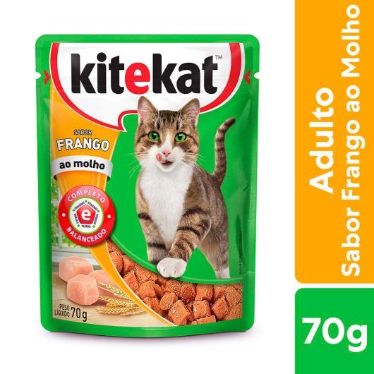 Alimento KiteKat adulto gato frango ao molho 70g - Imagem em destaque