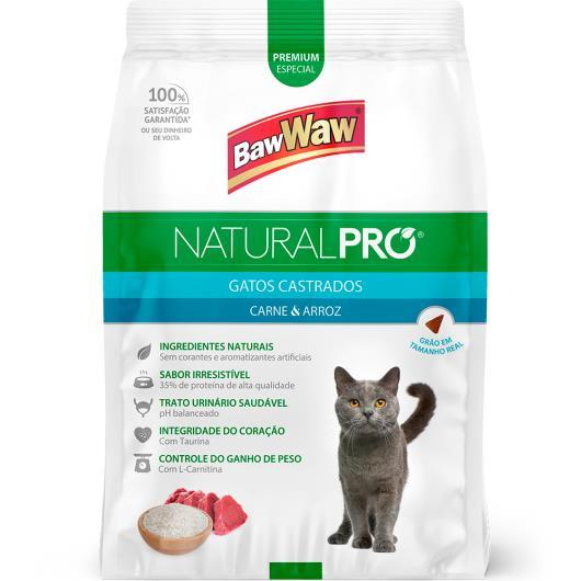 Alimento para gatos castrados Baw Waw Natural Pró carne e arroz 2,5kg - Imagem em destaque