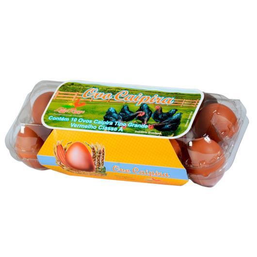 Ovos Caipira Label Rouge vermelhos tipo grande com 10 unidades - Imagem em destaque
