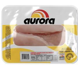 Filé Aurora de peito de frango congelado 1kg