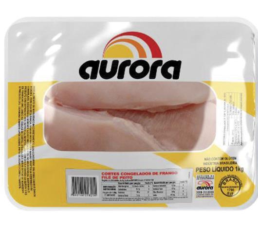 Filé Aurora de peito de frango congelado 1kg - Imagem em destaque