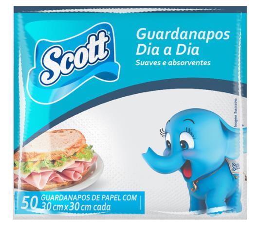 Guardanapo Scott  dia-a-dia 24x22 com 50 unidades - Imagem em destaque