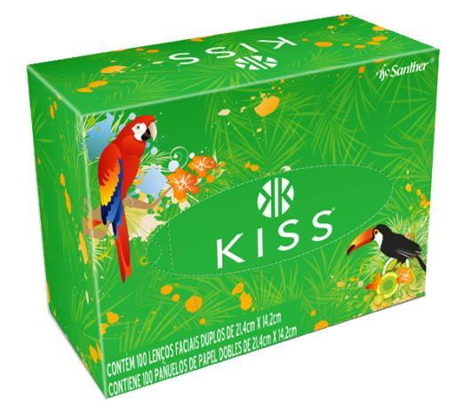 Lenço de papel facial Kiss com 100 unidades - Imagem em destaque