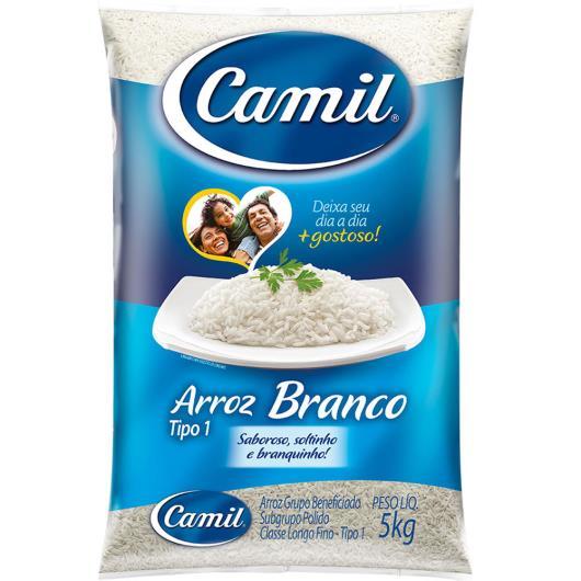 Arroz Camil branco tipo 1  5kg - Imagem em destaque