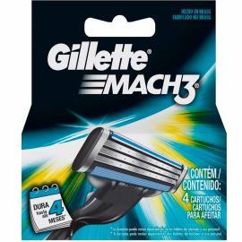Carga Gillette mach 3 com 4 unidades