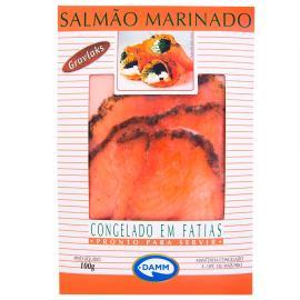 Peixe Damm  gravlaks salmão caixa 100g