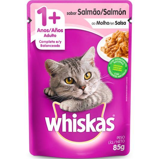 Alimento para gatos sabor salmão ao molho Whiskas 85g - Imagem em destaque