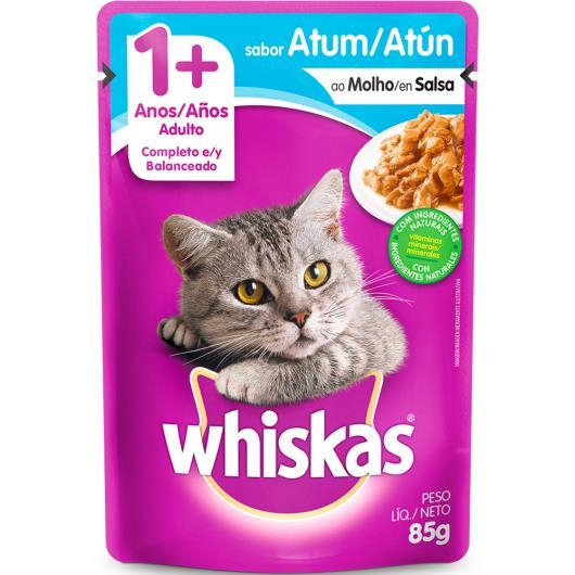 Alimento para gatos Whiskas sabor atum ao Molho 85g - Imagem em destaque