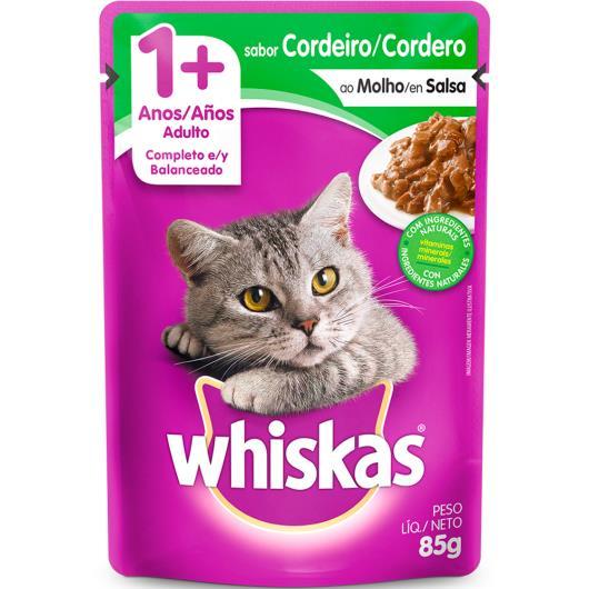 Alimento para gatos sabor cordeiro ao molho Whiskas 85g - Imagem em destaque