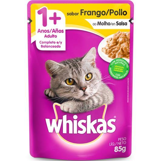 Alimento para gatos sabor frango ao Molho Whiskas 85g - Imagem em destaque