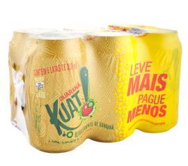Refrigerante Kuat  sabor guaraná lata Leve mais e Pague menos com 6 unidades 2,1L