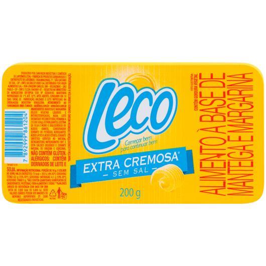 Manteiga e margarina Leco extra cremosa sem sal 200g - Imagem em destaque