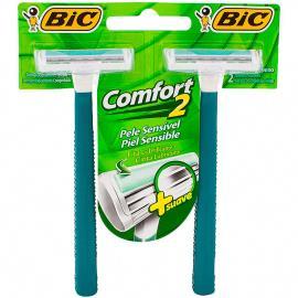 Aparelho Bic Comfort pele sensível com 2 unidades