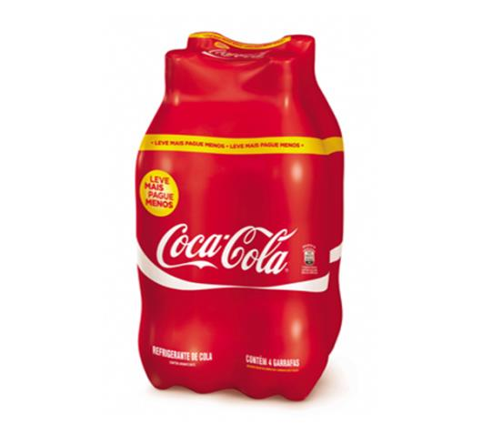 Refrigerante Coca Cola  pet 2L Leve + Pague - com 4 unidades - Imagem em destaque