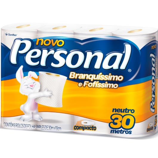 Papel higiênico Personal folha simples neutro 8 unidades - Imagem em destaque