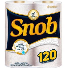 Papel toalha Snob folha branca ou decorada c/2 unidades