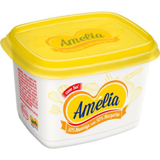 Manteiga Amélia menos colesterol com sal 50% margarina creme vegetal 50% 500g - Imagem em destaque