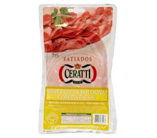 Mortadela Ceratti fatiada com pistache 150g - Imagem em destaque