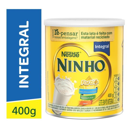 Leite em Pó NINHO Forti+ Integral 400g - Imagem em destaque
