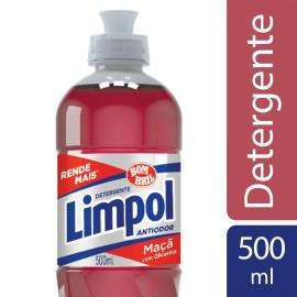 Detergente líquido Limpol maçã 500ml
